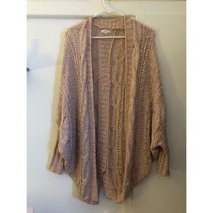 pink sweater cardigan